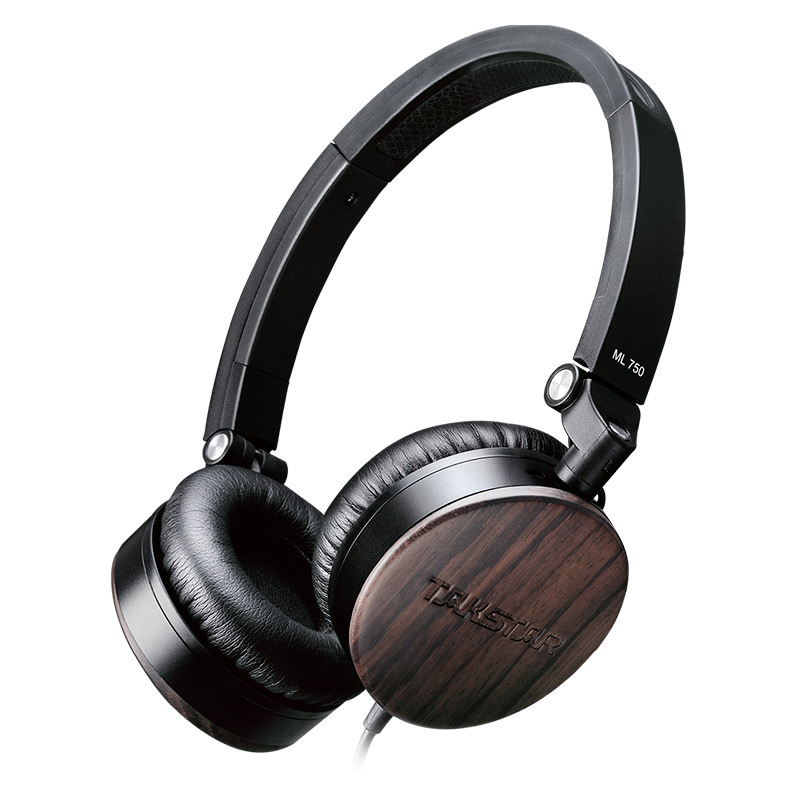 Takstar ML 750 Sandalwood Portable Stereo Headphone with Control Button and Microphone carry case included