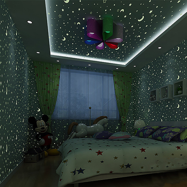 Luminous Stars And Moon Children's Room Environmental Non