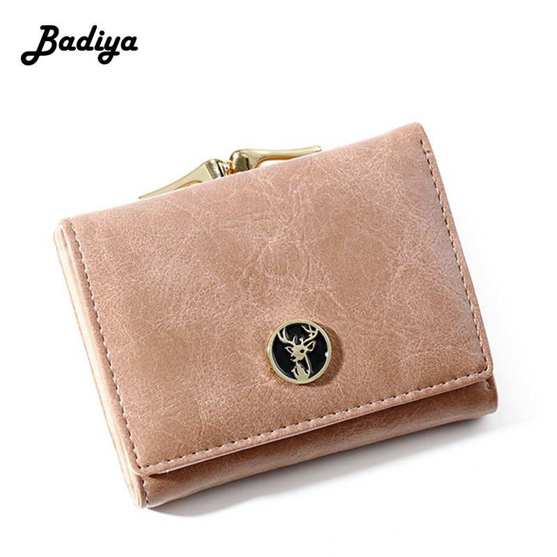 Luxury Design Women Small Wallets Pu Leather Short Coin Purse Ladies Trifold Fashion Hasp Wallet For Student Card Holders
