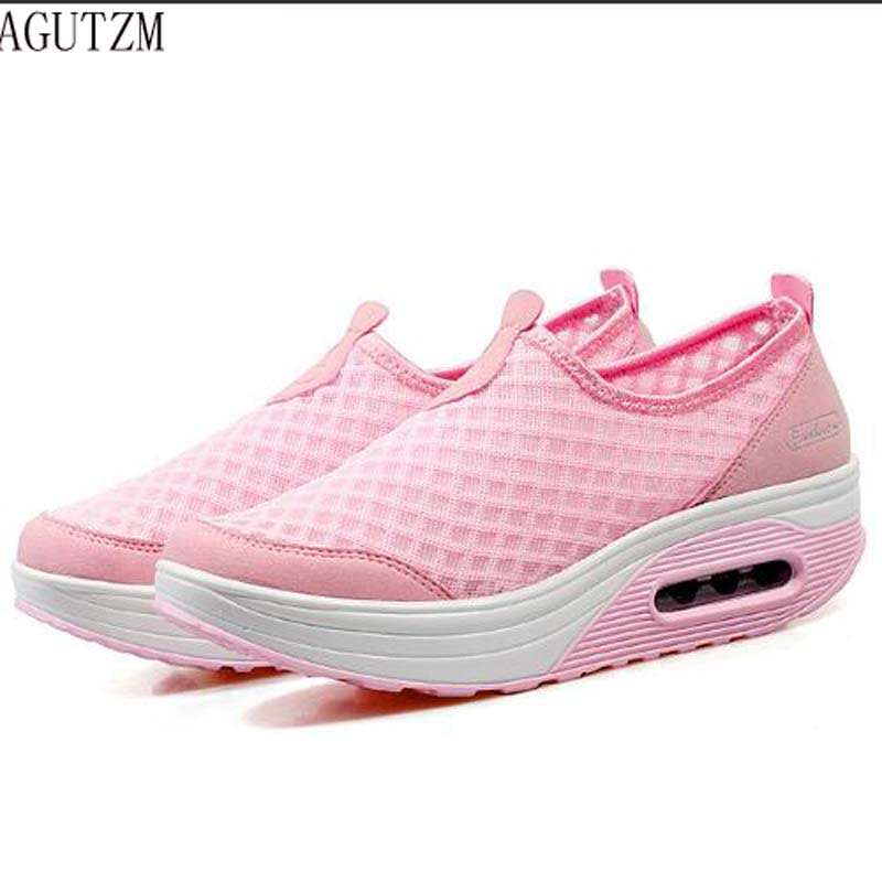V13 Agutzm Deporte Verano Señora Cómodo De Mujeres Walking rosado Zapatos Malla gris Nuevas Femeninos Zapatillas Al Ocasionales Aire Negro Transpirable Libre azul rqTrI