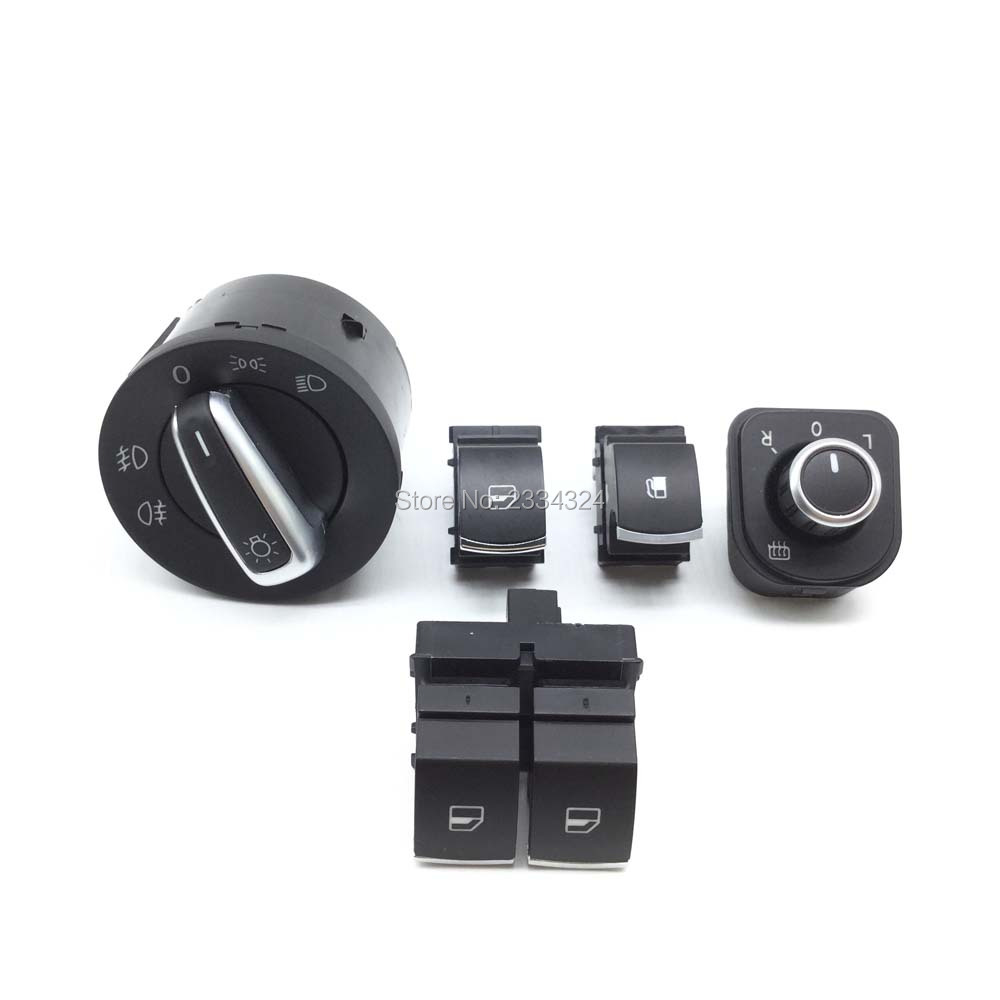 Window Mirror Headlight Fuel Tank Switch For VW Passat Golf GTI Rabbit Tiguan 5K3959857, ...