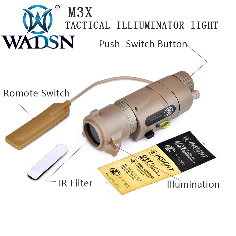 Image 4 - WADSN Softair L 3 M3X Tactical IR Light Filter Illuminator Airsoftsports Flashlight Military Hunting Torches EX175 Weapon Lights-in Weapon Lights from Sports & Entertainment
