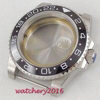 40mm Sapphire Glass Date Rotaating Ceramic Bezel Steel Watch Case fit 8215 2836 movement