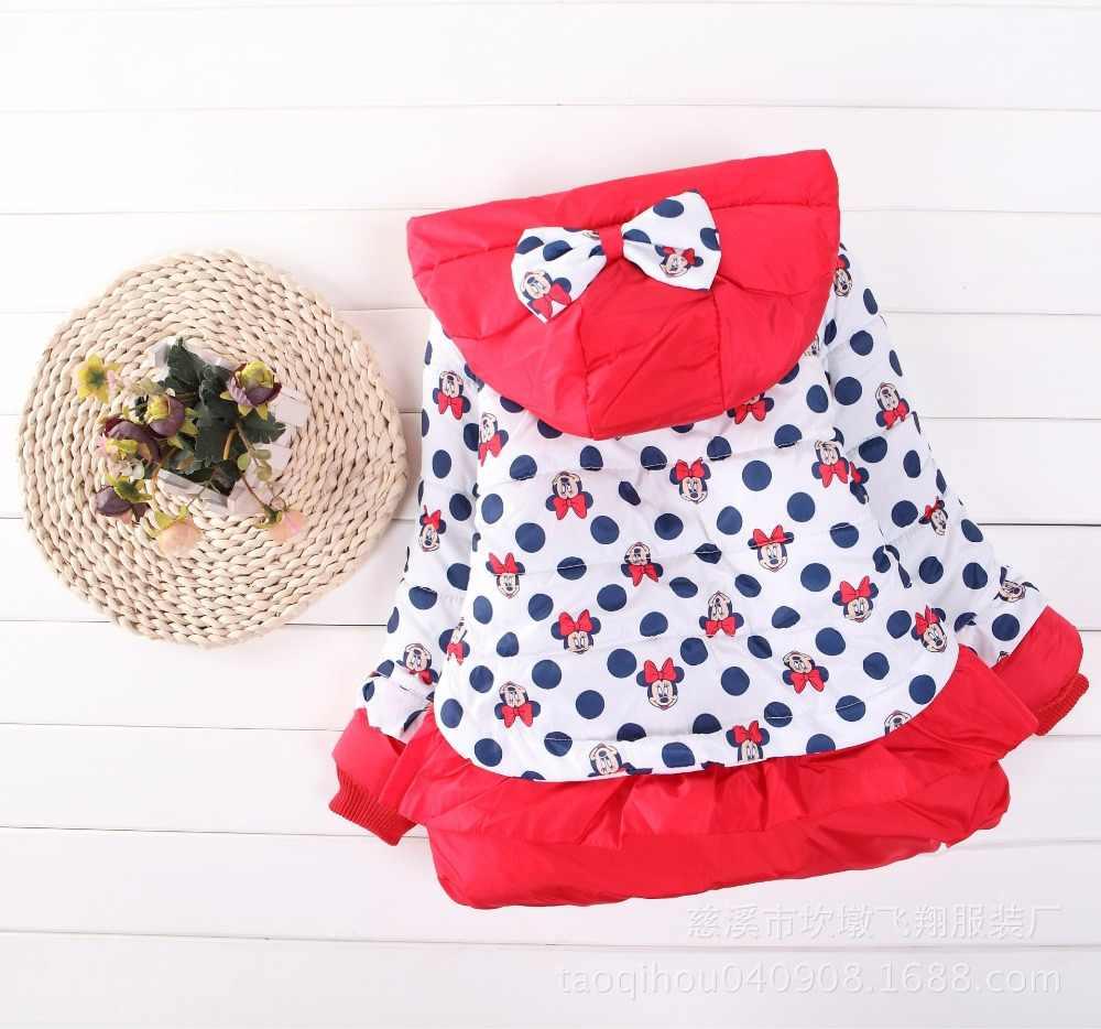 Новая зимняя накидка с Микки и Минни для маленьких девочек, детская одежда, Корейская версия детского топа с Минни для девочек, бархатная куртка