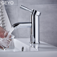 GEYO SUS 304 Stainless Steel Bathroom Basin Taps Faucets Mixer Hot And Cold Water Mixer Bath Sink Tap Faucet Chrome Finished