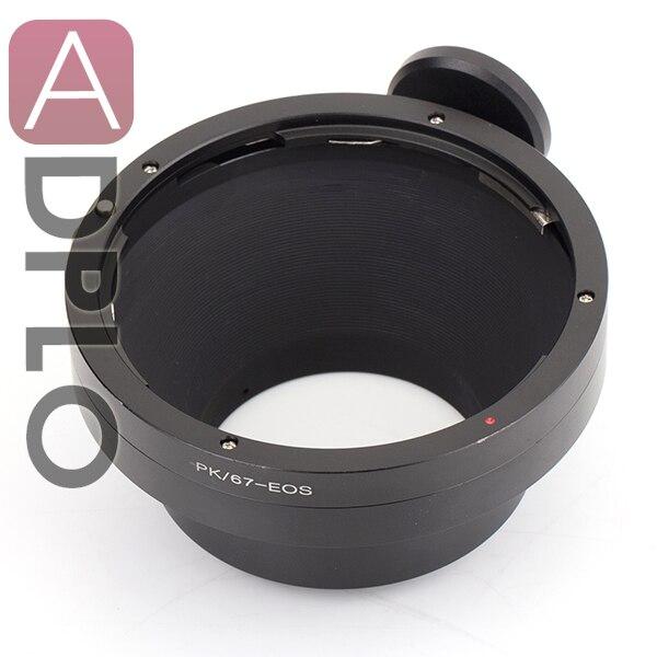 ADPLO Pour PK-EOS adaptateur de lentille convient à Pentax PK 67 à Canon E0S EF 50D 7D 5D 6D 50D 40D 30D 100D 700D 650D 600D 550D 500D 450D