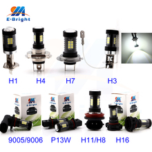 4pcs/lot 9-30V 1260 Lumens 3030 21 SMD 9005 9006 H1 H3 H4 H7 H8 H11 H16 P13W 6500K Auto Led Fog Cars Lamp Bulb Light Sourcing