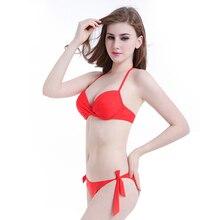 цена на SWIMLE Bikini Set 2017 Summer Low Waist Swimwear Women Sexy Bench Swimsuit Bathing Suit Push Up embroidered Biquini Brazilian