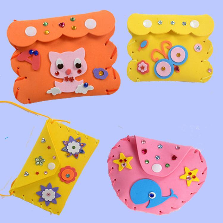 unids nios hechos a mano material de bricolaje bolso jugueteslos cabritos de la