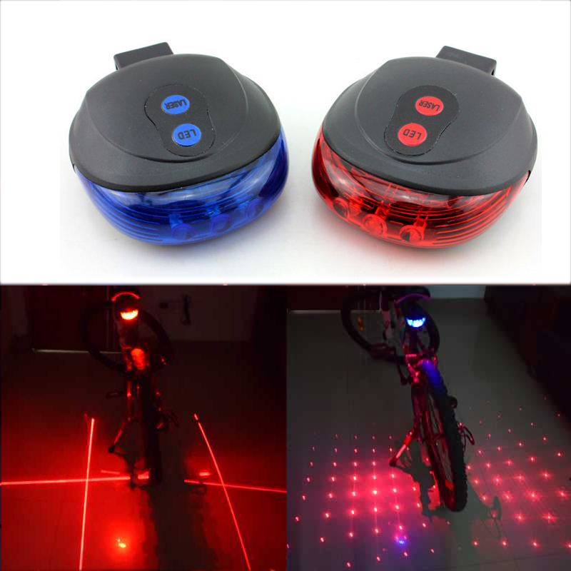 WasaFire New 5 Red LED Cycling Light 2 Lasers 7 Modes Bike Taillight Safety Warning Light Bicycle Rear Bycicle Light Tail Lamp