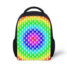 Noisydesigns 3D Hand-painted Aurora Print Back Packs 12 inch School Bags for girls boys Kindergarten Book Bag Beautiful
