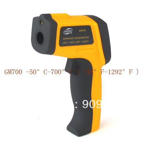 ФОТО Non-Contact IR Laser Infrared Digital Thermometer -50 Degree-700 Degree 12:1 GM700 POINT 100% Brand New Free Shipping
