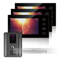 FREE SHIPPING Home Intercom Wired 7 TFT Video Doorphone Intercom System With 3 Touch Monitor MINI