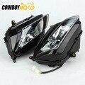 1 çift Motosiklet Ön Far Başkanı Işık lamba donanımı Honda CBR600RR CBR 600RR 2007 2008 2009 2010 2011 2012