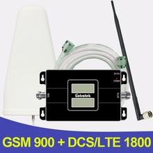 500 Metrekare 2G 4G GSM 900 LTE 1800 Dual Band cep Telefonu Sinyal Tekrarlayıcı GSM 4G LTE Hücresel Booster Amplifikatör Anten Set
