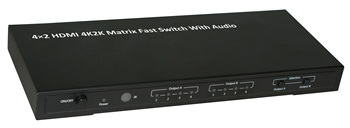 4×2 HDMI 4K2K Matrix Fast Switch With Audio