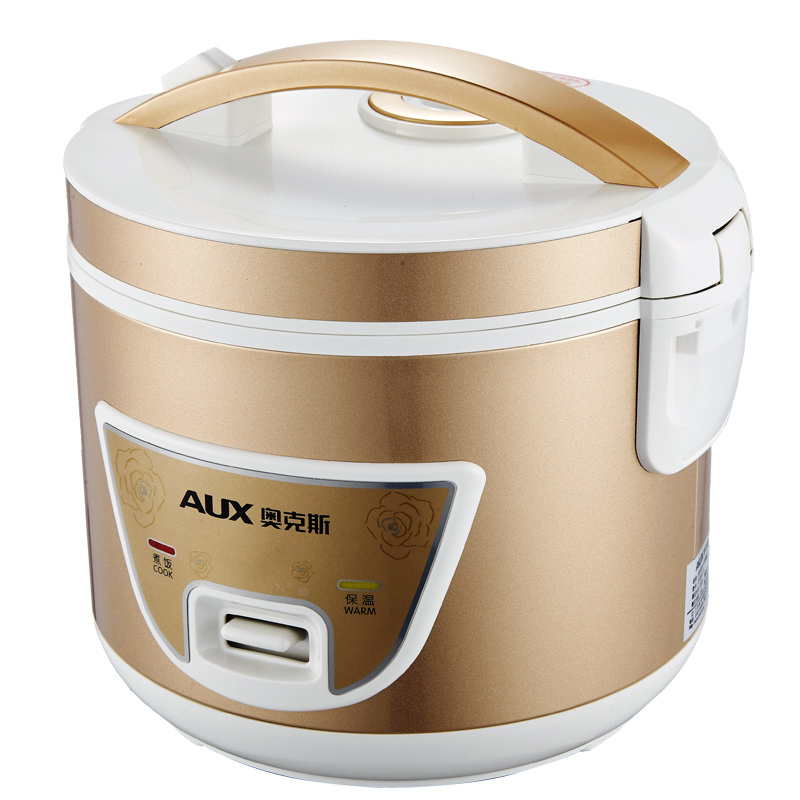 220V AUX 3L Household Electric Rice Cooker Easy Operation Gold Color Non-stick Inner Multifunctional Rice Cooking Machine 220v aux 5l electric electric pressure cooker non stick microcomputer control electric rice cooker intelligent booking function