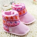 New Fashion Newborn Baby Boots Prewalker Anti-slip Shoes Infant Toddler Girls Winter Christmas Boots Booties 6pairs/lot