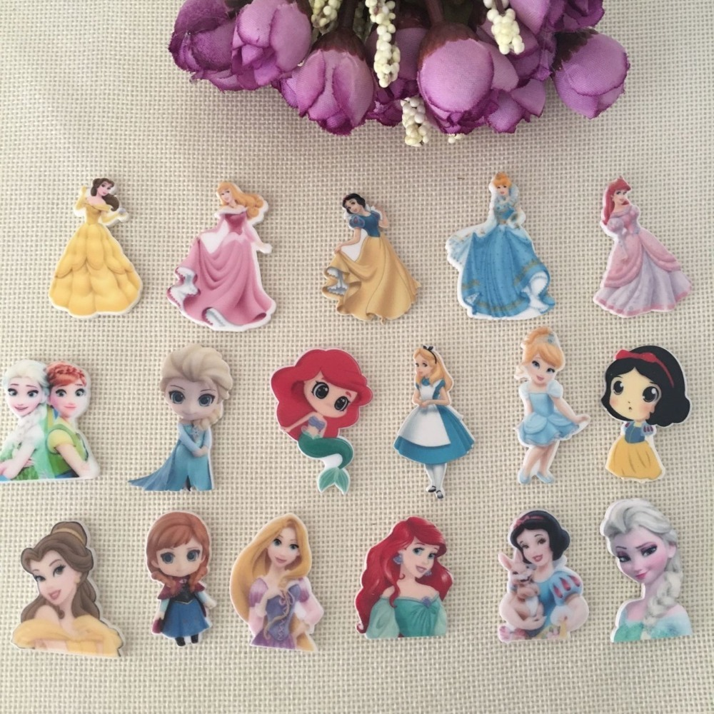 Princess New Arrival 10pcs/lot Free Shipping Resin Flatback For Hair Bows Snack Planar Resin Crafts For DIY Phone Decorations