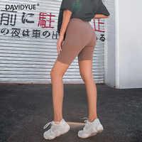 2019 летние винтажные шорты с высокой талией, женские сексуальные байкерские шорты, женские хлопковые неоновые зеленые черные шорты, спортив...