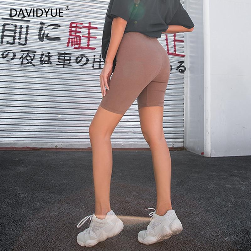 2020 Summer Vintage High Waist Shorts Women Sexy Biker Shorts Short Feminino Cotton Neon Green Black Shorts Sweatpants