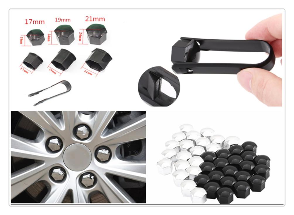 19mm Chrome Car Wheel Nut Caps Auto Hub Screw Cover Lug Cover 20pcs//set