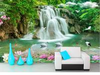 Chinese Landscape Mural Wallpaper Papel De Parede 3D Desktop Wallpaper Modern Fashion 3D Wallpaper Walls