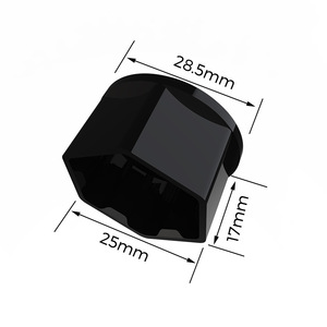 Image 5 - For Tesla Model 3 car nuts Wheel Nut Covers  Lug Nut Covers   Glossy Black car accessories wheel center hub cap cover nut bolt