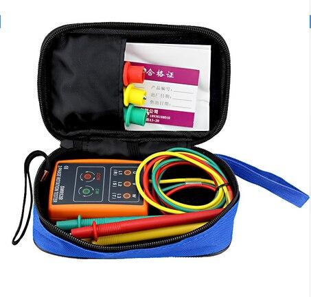 100% Original et Nouveau 3 Phase Rotation Tester Indicateur Détecteur Compteur LED Buzzer SM852B Portable