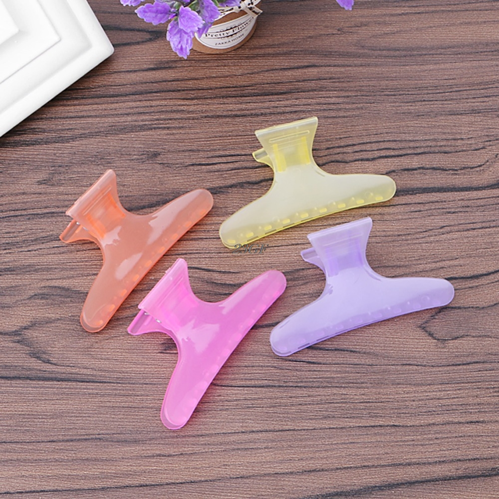 2018 12PCS Multicolor Plastic Butterfly Hair Claws Clip Make Up Hairdressing Tool Hair Accessories For Women