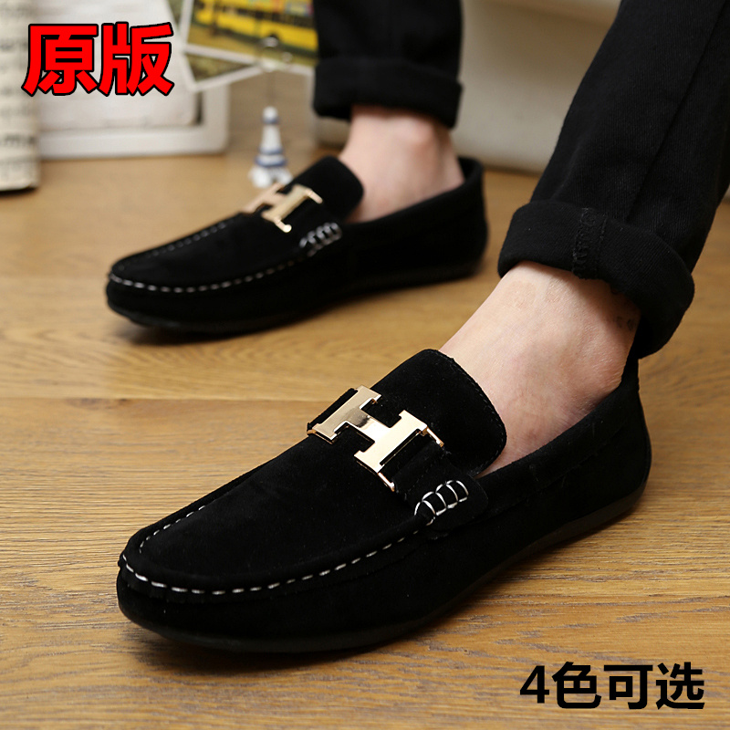 2016 new fashion leather lazy loafers Mens Casual driving ...