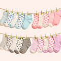 Free shipping ( 10 pieces/lot=5pair ) 100% cotton Baby socks newborn floor socks kids cotton short socks girl and boy socks