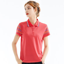 Golf T-shirts Vrouwen Polo T-shirts Vrouwelijke Golf Sport Kleding Polyester Korte Mouw Bowling Tops Lady Golf Training t-shirts(Hong Kong,China)