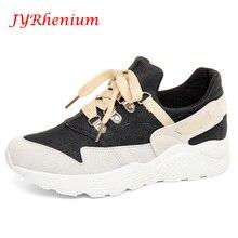 JYRhenium 2018 Women Shoes New Platform Striped Bowknot Lace-up Women Running Shoes Summer Sneakers Jogging Shoes Walking Shoes