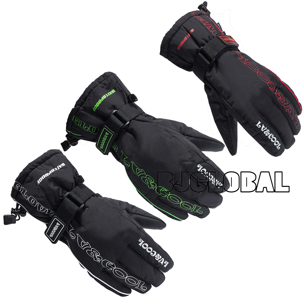 Motorcycle leather gloves waterproof - Hot Winter Motorcycle Gloves Racing Waterproof Windproof Leather Cycling Bicycle Cold Guantes Moto Luvas Ski Racing