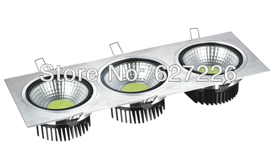 Factory Supply Dimmable 3*7W COB LED downlight   silver cover face high quality 3 years warranty,10 PCs a Lot. high quality 2 years warranty 350w 48v 7 3a power supply