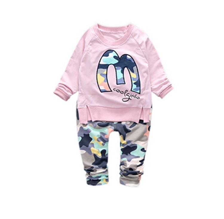 Bērnu apģērbu komplekti Zēnu zēniem meitenēm piemēroti apģērbi Todd zēnu apģērbi Garām piedurknēm T-kreklu bikses Ikdienas treniņtērpi Bērnu apģērbi
