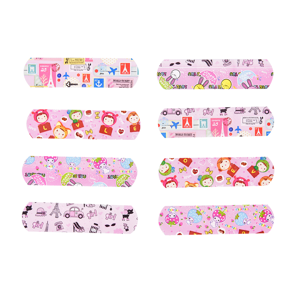 50PCs Waterproof Breathable Cartoon Band Aid Hemostasis Adhesive Bandages First Aid Emergency Kit For Kids Children Skin Care