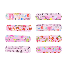 50PCs Waterproof Breathable Cartoon Band Aid Hemostasis Adhesive Bandages First Aid Emergency Kit For Kids Children Skin Care free shipping 100pcs 7 2cmx1 9cm standard waterproof breathable bandages band aid first aid emergency care prevent rubbing foot