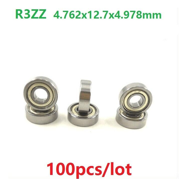100pcs lot R3ZZ R3 ZZ 2Z bearing 3 16 x 1 2 x 0 196 inch