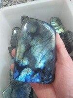 Natural Labradorite Moonstone Crystal Stone Degaussing Energy Quartz Ornaments Random Color Drop Shipping