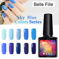 10ml Blue Sky Colors Series UV Gel Nail Polish Nails Gel Professional Esmalte Semi Permanent Nail Gel Polish Bling Glue UV lamp
