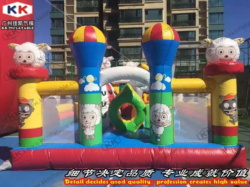 Colorful cartoon sheep family font b bouncer b font inflatable fun city inflatable fun land
