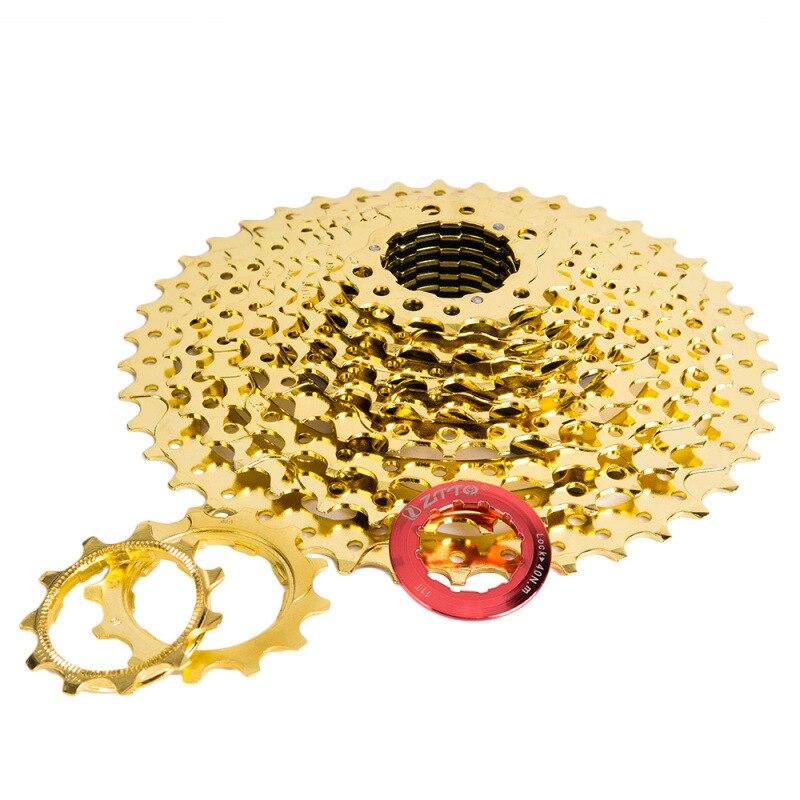 ZTTO 10 s 11-40 T 10 vitesses pièces de vélo roue libre pour vtt VTT vélo en acier pignons dorés pour le système de pièces