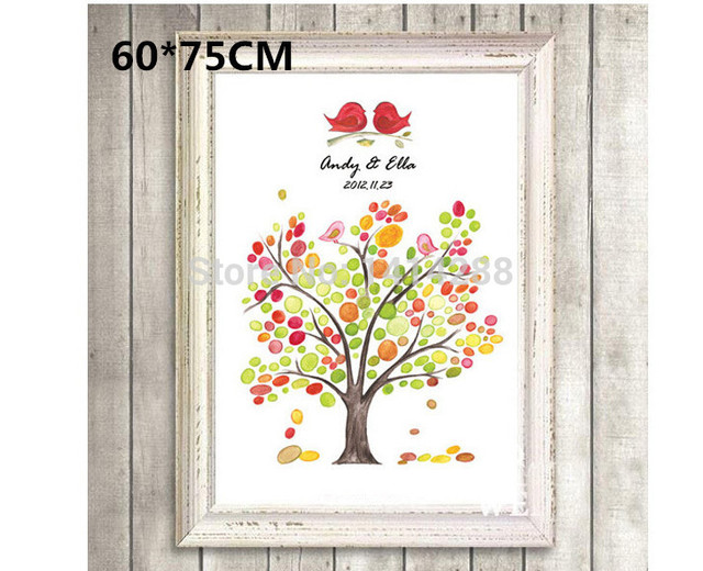 New 60*75CM Wedding Fingerprint Tree Wedding Guest Book Fingerprint ...