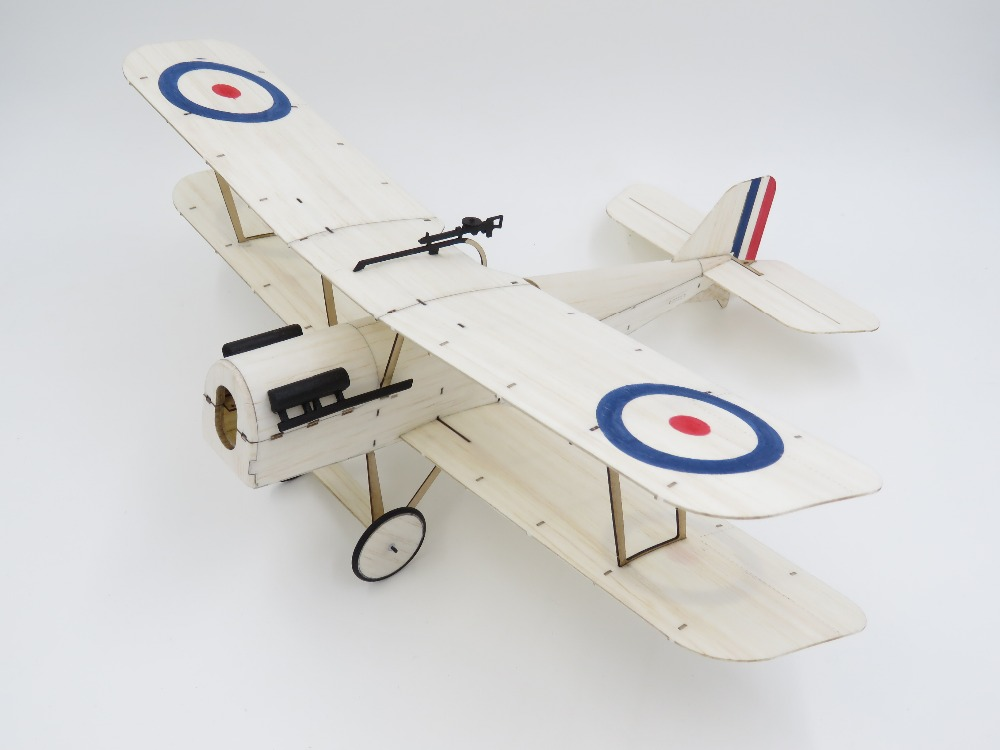 Ultra-micro Balsawood Airplane SE5A Kit MinimumRC 378mm Wingspan Micro RC Balsa Wood Laser Cut Building Kit Brushless K4