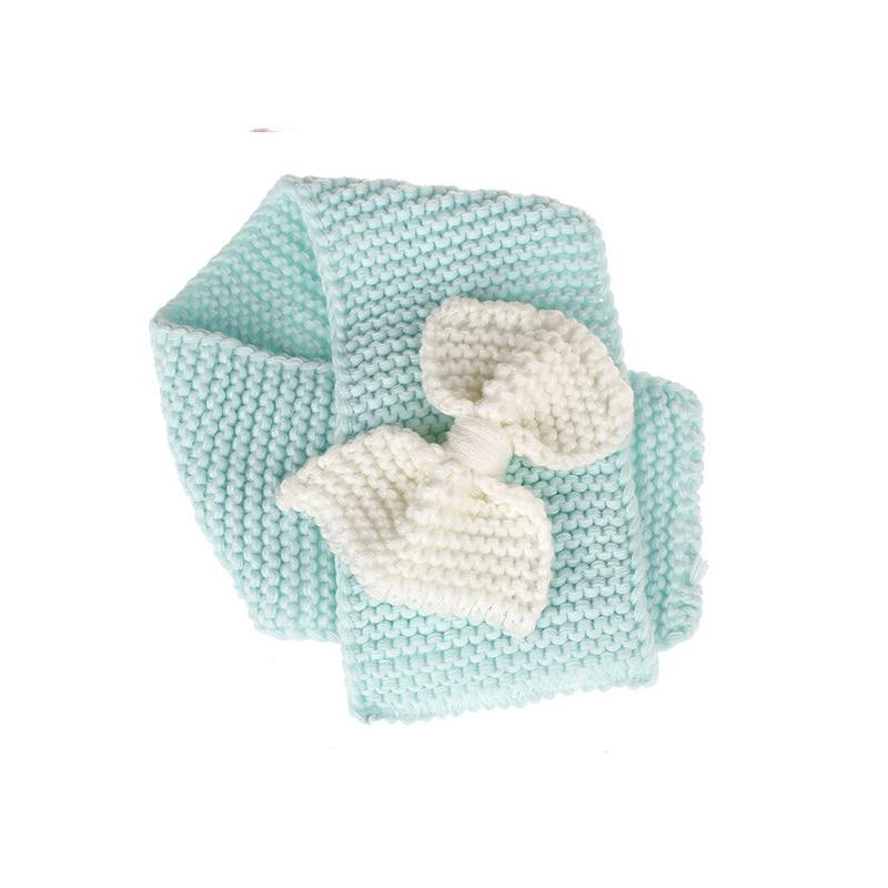 Осенне-зимний теплый шарф для мальчиков и девочек, шаль-снуд, шарфы - Цвет: Синий