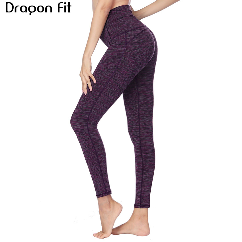 Dragon Fit Breathable Print Yoga Pants Quick Dry Sport Pants Women Fitness Gym Running Trousers Sportswear Tights Yoga Leggings active blue random print yoga leggings