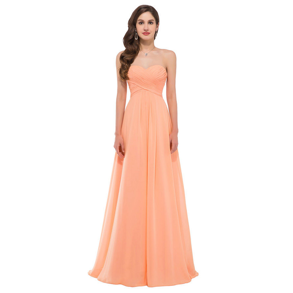 Cheap bridesmaid dresses under 50 grace karin sweetheart for Cheap chiffon wedding dresses