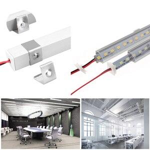 Image 5 - 5 قطعة/الوحدة 50 سنتيمتر LED بار ضوء 5730 فولت شكل الزاوية الألومنيوم الشخصي مع غطاء منحني ، جدار الزاوية ضوء DC12V ، LED إضاءة الخزانة